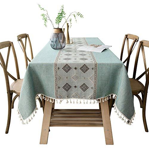 WANGLX ST Tischdecke Baumwolle Leinen Küche Tischplatte Dekoration Waschbar Picknick Zuhause Dekoration Stoff Kaffee Tabelle Matte Draussen Picknicks Stoff, 140 * 220cm (Stoff Picknick-tischdecke)