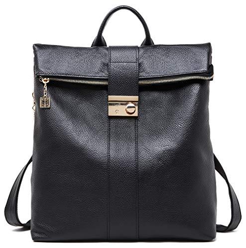 BOYATU Anti Theft Leder Rucksack Geldbörse für Frauen Große Reise Umhängetasche