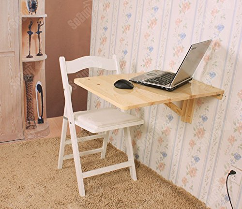 Kids Kitchen Table: SoBuy Wall-mounted Drop-leaf Table, Folding Kitchen
