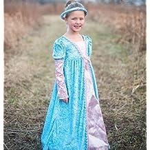 Disfraz de Lady Lucy con corona. Color Azul Talla M