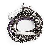 URIZONS In-Ear Kopfhörer, in-Ohr Kopfhörer mit Mikrofon und Fernbedienung Handgefertigte Stoff Geflochtene Tribe Thread Wrapped Armband Style