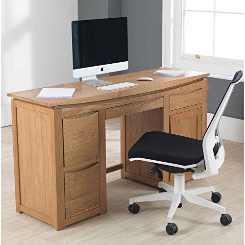 Mezzaluna in rovere massiccio mobili scrivania