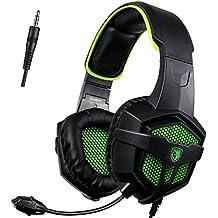 [SADES 2016 Multi-Platform Neue Xbox ein PS4 Gaming Headset], SA-807 Green Gaming Headsets Kopfhörer Gaming für neue Xbox one / PS4 / PC / Laptop / Mac / iPad / iPod (Schwarz&Grün)