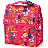 PackIt Saturday - Bolsa porta-alimentos para el almuerzo, 13 x 22 x 25 cm, color rosa