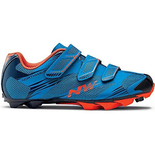 Northwave Scorpius 2 MTB Fahrrad Schuhe blau/orange 2018: Größe: (Orange Und Blaue Schuhe)