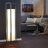 Stehlampe AGAPUNE in weiss 120cm Stehleuchte E27 40 Watt Papier chrom Lampen Beleuchtung Wohnzimmer Schlafzimmer