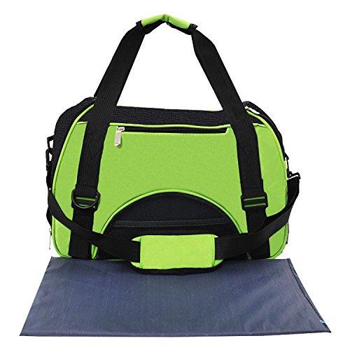 KAI-Falten Sie das Handheld Taschen atmungsaktiv Hund PET-Paket?50X23X34cm?Fruit green