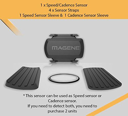 magene Dual Band Wireless Bike SPEED Sensor & Cadence Sensor für Bike Computer, Trainer, iPhone, Android und USB ANT +. Unterstützung ANT + Geräte & Bluetooth Smart Geräte., Speed & Cadence Sensor