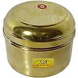 SHIV SHAKTI ARTS Handmade Pure Brass Box No 5 For Storage Purpose