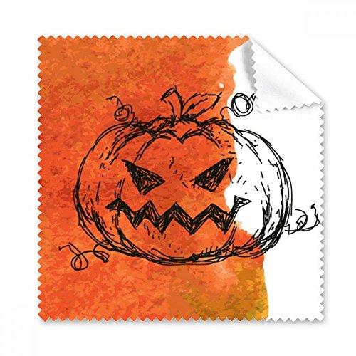 (Handbemalt Kürbis des Halloween Brille Reinigungstuch Reinigungstuch Geschenk Handy-Display von 5x)