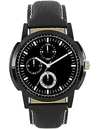 Xurious Enterprise Round Dial Analogue Multi-Color Dial Black Leather Strape Fashion Wrist Watch For Men & Boys...