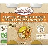Babybio pot carotte courge poulet riz sans gluten 6 mois 2 x 200g - ( Prix Unitaire ) - Envoi Rapide Et Soignée