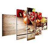 islandburner Bild Bilder auf Leinwand Gesundes Bio-Gemüse Bio-Lebensmittel Wandbild, Poster, Leinwandbild JDY