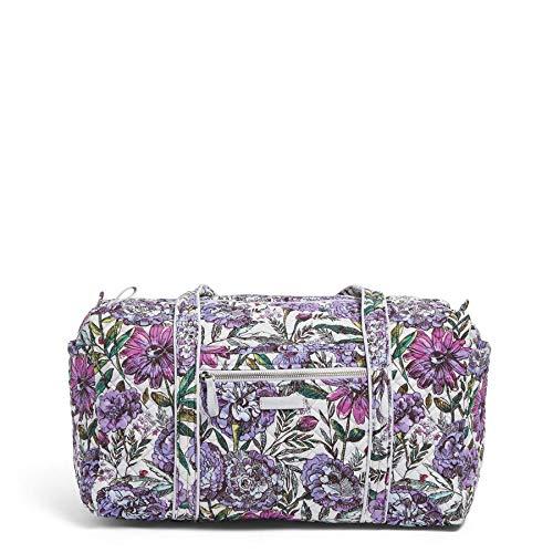 Vera Bradley Damen Iconic Small Duffel, Signature Cotton Wochenendtasche, Lavender Meadow, Einheitsgröße