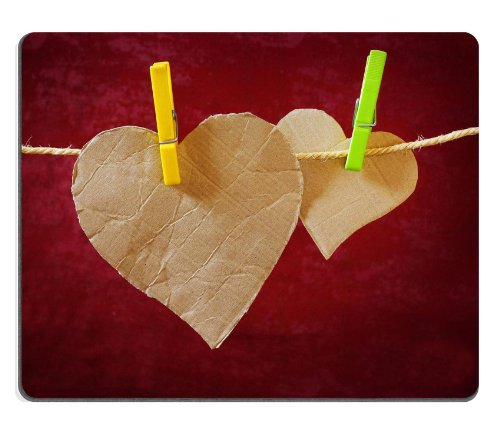 cardboard-hearts-on-cloth-line-mouse-pads-customized-made-to-order-support-ready-9-7-8-inch-250mm-x-