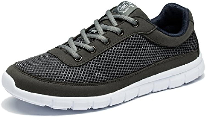 NewDenBer - Zapatillas de Running de Material Sintético para Hombre, Color Gris, Talla 41