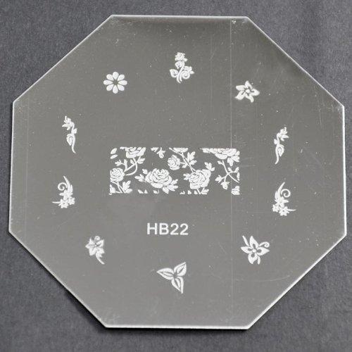 Nail Art emboutissage des tôles - HB22 CODE : HB22-plaque