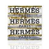 Colorscrazy Hermès tableau contemporain encadré pour mobilier de salon bureau à domicile - peinture sur toile prêt à accrocher - décoration intérieure - Declea...