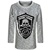BEZLIT Jungen Sweatshirt Pullover Wende-Pailletten Tiger 21499, Farbe:Grau, Größe:140