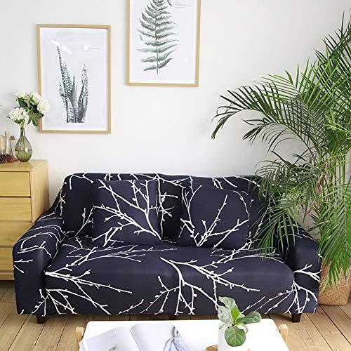 Ashanlan 3 Sitzer Sofabezug Sofaüberwurf Sesselhussen Elastisch Hautfreundlich 185-230cm