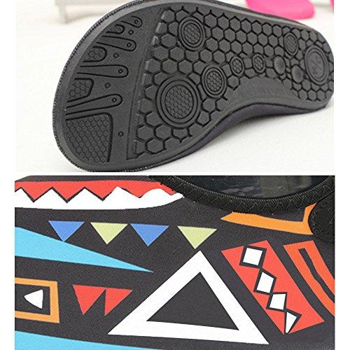 Eastlion Breathable Sportschuhe Geometrische Muster Schwimmen Strand Schuhe Barefoot weiche bequeme Schuhe Jogging rose