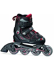 Fila X-One Combo 3 Set G Girls' Inline Skates with Protection Pads and Helmet Multi-Coloured Wei/pink Size:L by Fila