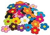 VBS Großhandelspackung 120 Bügelappikationen bunter Blütenmix viele Farben