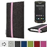 flat.design Handy-Hülle COIMBRA mit rosa Gummiband für