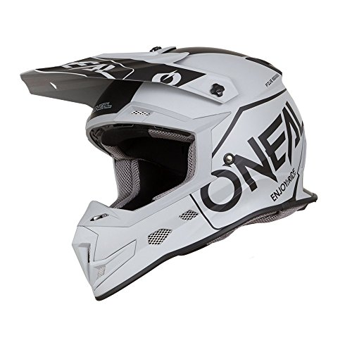 O'Neal 5Series Hexx Motocross Helm Motorrad MX Enduro Trail Quad Cross Bike Offroad FR DH, 0618, Farbe Grau, Größe 2XL (Nasenschutz Helm Motorrad)