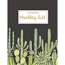 Monthly Bill Planner And Organizer: monthly budget planner cactus | 3 Year Calendar 2020-2022 Bill planner Worksheet | Weekly Expense Tracker Bill ... Gift for mom (Financial Planner Budget Book)