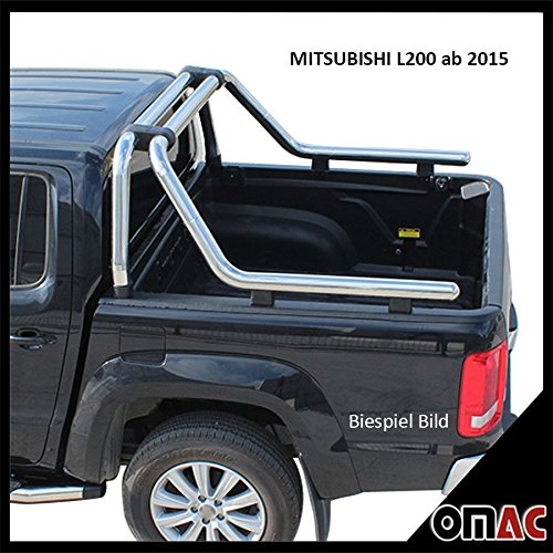 OMAC Überrollbügel Rollbar aus Edelstahl 76 mm für Mitsubishi L200 ab 2015