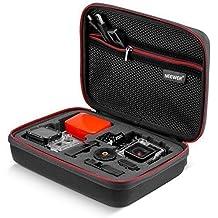 """Neewer NW2009""""x 7"""" x 3""""/23x 18x 7cm tamaño mediano EVA a prueba de golpes GoPro Case con hebilla para GoPro Hero4Session Hero 4/3+/3/2/1SJ4000SJ5000SJ6000SJ7000Xiaomi yi y accesorios–viajes y hogar caso con excelente corte de espuma interior–negro"""