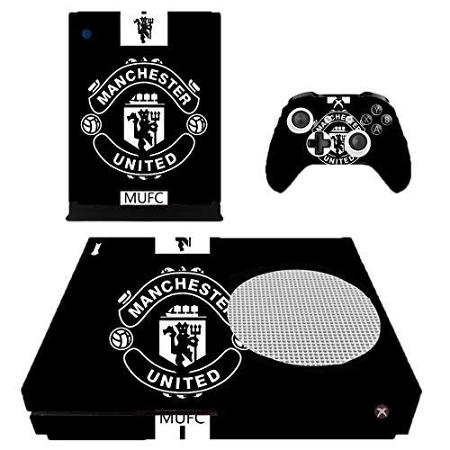 Xbox One Slim Konsole + 2 Controller Design Manchester United Schutzfolie Skin Faceplates Schutz Folie ( Herstellung in Deutschland ) - One Controller-manchester Xbox