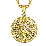 FaithHeart Diamante Recorte Bling Bling Bling Joyería Ice out Collar...