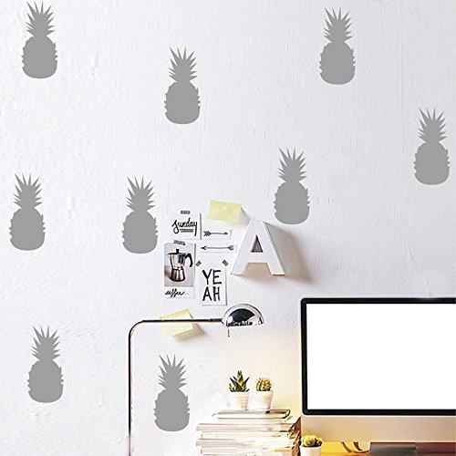 Saingace Wandaufkleber Wandtattoo Wandsticker,3D Ananas-Raum-Dekoration-Wand-Aufkleber Schmetterlings-Kühlraum-Ausgangsdekoration (Zeichen Halloween Sprüche)