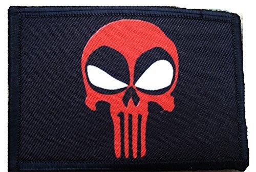 Deadpool Punisher Morale Patch. Perfecto para tu equipo táctico militar, mochila, gorra de béisbol del operador, portador de platos o chaleco. Parche de gancho y bucle de 2 x 3 pulgadas. Fabricados en EE.UU.