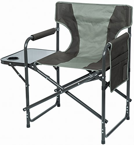VTK Outdoor–Silla de camping Confort Relax–con Tablet y bolsillos laterales–plegable