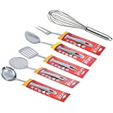[Sponsored]A-Plus 6 Piece Stainless Steel Kitchen Tool Set - (Ladle, Skimmer, Turner, Basting , Fork & Egg Whisk)