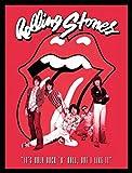 1art1 Rolling Stones Poster Kunstdruck und MDF-Rahmen Schwarz - It's Only Rock N Roll (80 x 60cm)