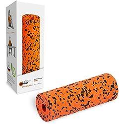 Blackroll Orange mini Faszienrolle - Selbstmassagerolle klein (15 cm) für gezielte Faszienmassage an Arm, Nacken und Bein