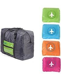 Toku Foldable Travel Luggage Storage Bag Waterproof Folding Handbag Shopping Pouch(Multi Color)