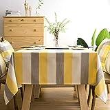 ZAMAC Nappe de Tables Carree Imperméable Anti-tâche pour Picnic Nappe Exterieur Decoration pour Table Jaune 90x90cm