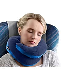 BCOZZY Chin Supporting Travel Pillow – Complete 360° Support for Head, Neck, and Chin –Achieve Maximum Comfort in Any Sitting Position with Patented Neck Pillow – Adult Size (NAVY)