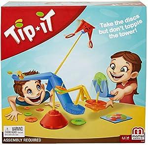 Mattel Games-Tip It, Juegos de Mesa para niños +5 años, Multicolor FLK86