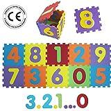 LUDI - Tapis de sol épais et jouet Éducatif - 1053 - puzzle géant aux motifs...