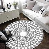 c037eed9 Alfombra Redonda de Moda clásica de Gran tamaño Moderno, geométrico,  Multifuncional para Sala de Estar sofá Dormitorio para una Lectura Relajada  Alfombra ...