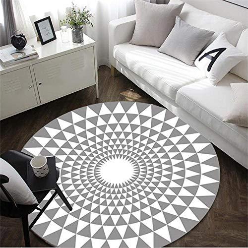 n Home Large Rug Modernes geometrisches multifunktionales für Wohnzimmer Sofa Schlafzimmer zum Entspannen Lesen schwarzer Grauer Teppich in verschiedenen Größen weicher Teppich ()