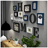 Massivholz Fotowand Kombination Wohnzimmer Schlafzimmer modernen minimalistischen Bilderrahmen Wand Hung European Creative Restaurant Kinder Fotowand (A)