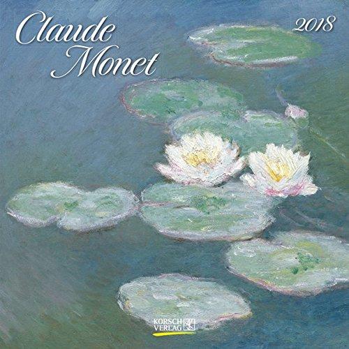 Claude Monet 2018: Kunstkalender mit Werken des Malers Claude Monet. Broschürenkalender mit Ferienterminen. Format: 30 x 30 cm (Kalender-wand Organizer)