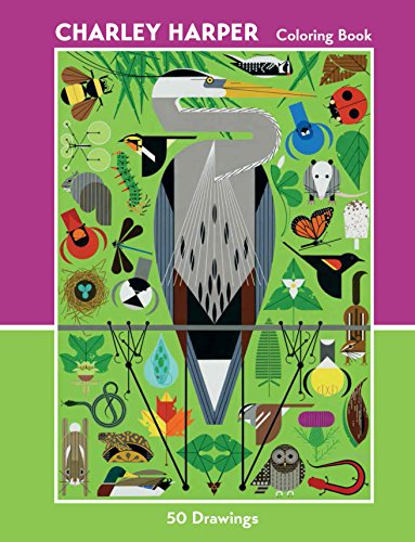 Charley Harper 50 Drawings Coloring Book  Cbk009: 50 Drawings Coloring Book CBK009